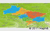 Political Panoramic Map of Hannover, physical outside