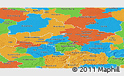 Political Panoramic Map of Hannover