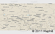 Shaded Relief Panoramic Map of Hannover