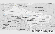 Silver Style Panoramic Map of Hannover
