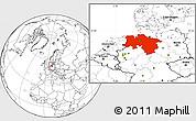 Blank Location Map of Niedersachsen