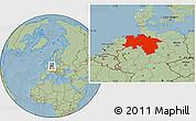 Savanna Style Location Map of Niedersachsen, hill shading