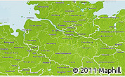 Physical 3D Map of Lüneburg