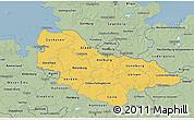Savanna Style 3D Map of Lüneburg