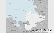 Gray 3D Map of Cuxhaven