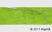 Physical Panoramic Map of Harburg