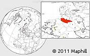 Blank Location Map of Lüneburg