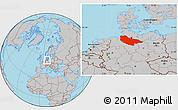 Gray Location Map of Lüneburg