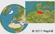 Satellite Location Map of Lüneburg