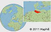 Savanna Style Location Map of Lüneburg