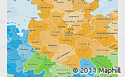 Political Shades Map of Lüneburg