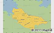 Savanna Style Map of Lüneburg, single color outside