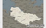 Shaded Relief Map of Lüneburg, darken