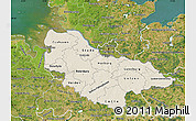 Shaded Relief Map of Lüneburg, satellite outside