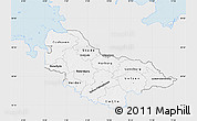 Silver Style Map of Lüneburg, single color outside