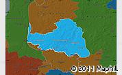 Political Map of Osterholz, darken