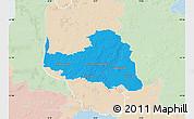 Political Map of Osterholz, lighten
