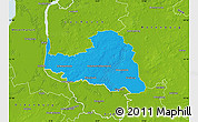 Political Map of Osterholz, physical outside
