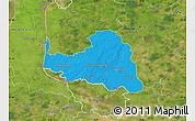 Political Map of Osterholz, satellite outside