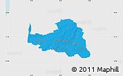 Political Map of Osterholz, single color outside