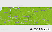 Physical Panoramic Map of Osterholz