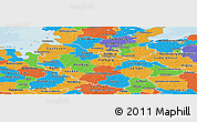 Political Panoramic Map of Lüneburg
