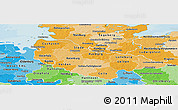 Political Shades Panoramic Map of Lüneburg