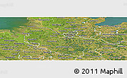 Satellite Panoramic Map of Lüneburg