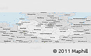Silver Style Panoramic Map of Lüneburg