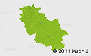 Physical 3D Map of Rotenburg, single color outside