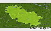 Physical Panoramic Map of Rotenburg, darken