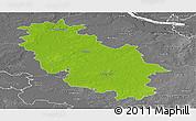 Physical Panoramic Map of Rotenburg, desaturated
