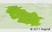 Physical Panoramic Map of Rotenburg, lighten