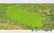 Physical Panoramic Map of Rotenburg, satellite outside