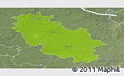 Physical Panoramic Map of Rotenburg, semi-desaturated