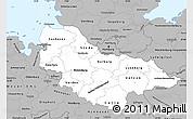 Gray Simple Map of Lüneburg