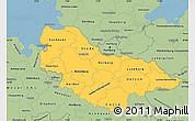 Savanna Style Simple Map of Lüneburg
