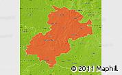 Political Map of Soltau-Fallingbostel, physical outside
