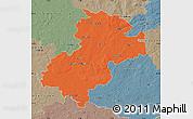 Political Map of Soltau-Fallingbostel, semi-desaturated