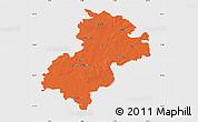 Political Map of Soltau-Fallingbostel, single color outside
