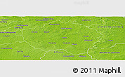 Physical Panoramic Map of Uelzen