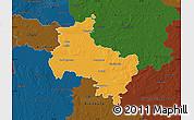 Political Map of Verden, darken
