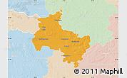 Political Map of Verden, lighten