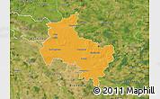 Political Map of Verden, satellite outside
