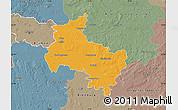 Political Map of Verden, semi-desaturated