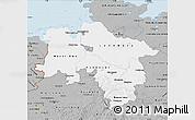 Gray Map of Niedersachsen