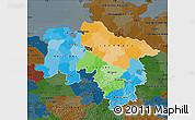 Political Map of Niedersachsen, darken