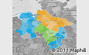 Political Map of Niedersachsen, desaturated