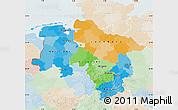 Political Map of Niedersachsen, lighten