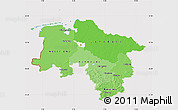 Political Shades Map of Niedersachsen, cropped outside